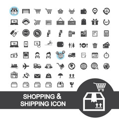 shopping and shipping icon