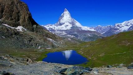 reflection of the Matterhorn in Switzerland