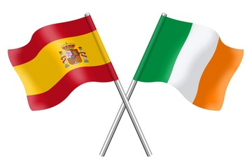 Flags: Spain and Ireland