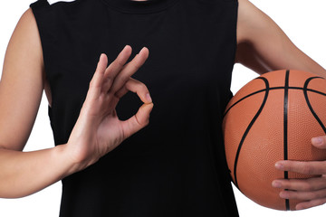 basketball player making the sign all is well