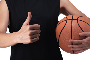 basketball player making the okay sign