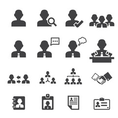 business persons and users icon