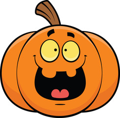 Cartoon Jack-o-Lantern Happy