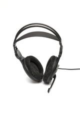 headphones on the white background