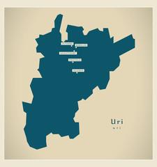 Moderne Landkarte - Uri CH