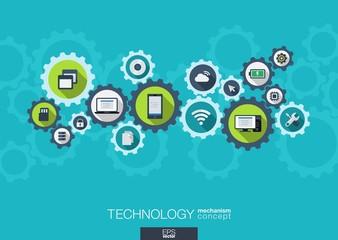 Technology mechanism concept.