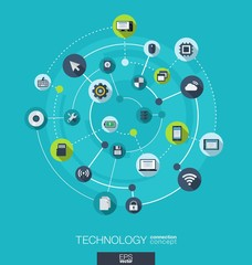 Technology connection concept.