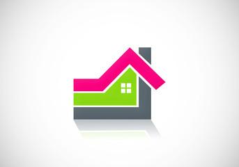 home abstract shape logo