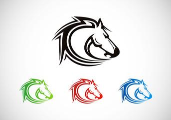 horse head vector logo