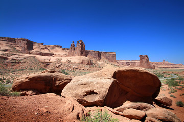 Arches National Park - Courthouse Towers Viewpoint