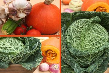 Légumes de Soupe :Potimarron Chou vert  Navet . .