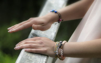 Hands with jewelry