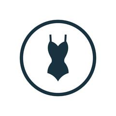 swimsuit circle background icon.