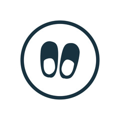 slippers circle background icon.