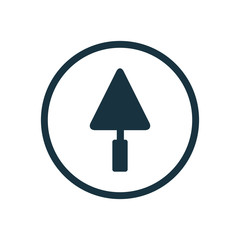 trowel circle background icon.