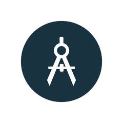 compasses circle background icon.