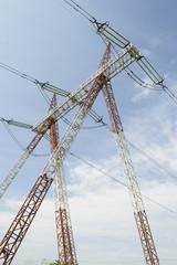 High voltage power line pole