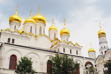 Annunciation church in Moscow Kremlin. UNESCO  Heritage Site.