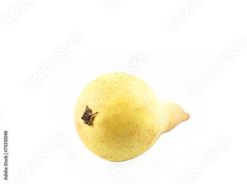 canvas print picture schöne gelbfarbene Birne