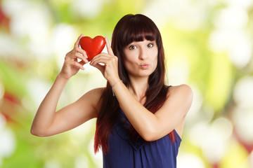Kussmund Herz Liebe