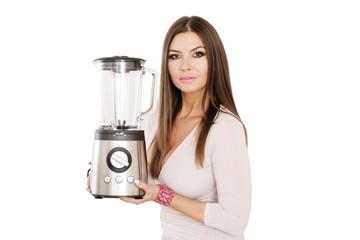 Frau mit neuem Mixer