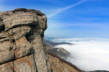rock over valley