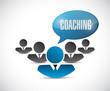 teamwork coaching message illustration design