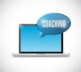 online computer coaching illustration design