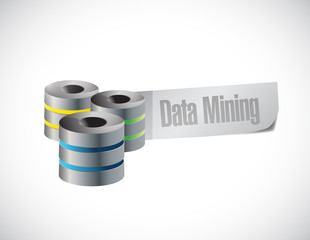 data mining servers sign illustration design