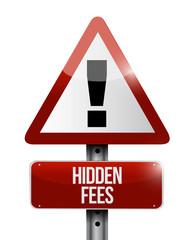 hidden fees warning sign illustration design