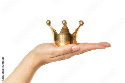 Leinwanddruck Bild Der Kunde ist König