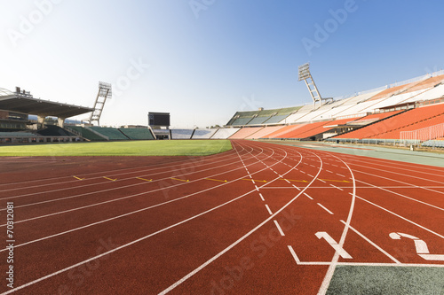 Fototapeta athletics track