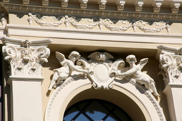 House architectural detail,Vilnius