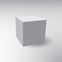 Illustration of a 3D cube on a grey background