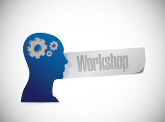 workshop sign illustration design