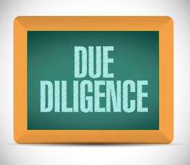 due diligence message illustration design