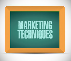 marketing techniques sign illustration design
