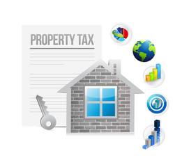 property tax concept illustration design