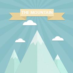 Mountain flat design concept.