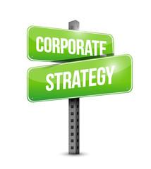 corporate strategy street sign illustration design