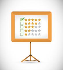 great review stars. illustration design