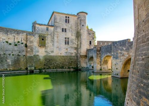 Fotobehang Vestingwerk Aigues-Mortes en France