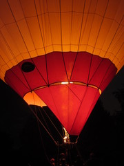 balloon in Pyatigorsk in the evening