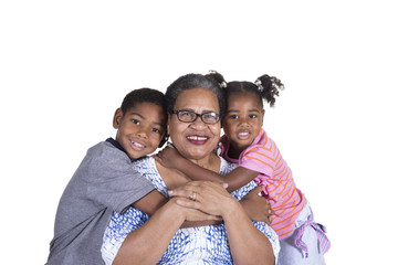 Grandmother and her grandchildren