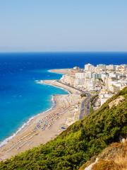 View on Rhodes town tourist district