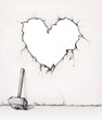 Herzförmiger Wanddurchbruch