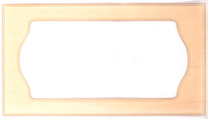 Wooden frame for picture on white background