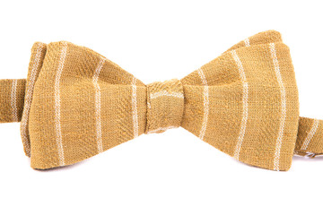 striped bow tie isolated on white background