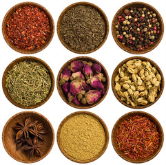 collection of different spices