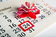 calendar days with numbers close up - 70317639